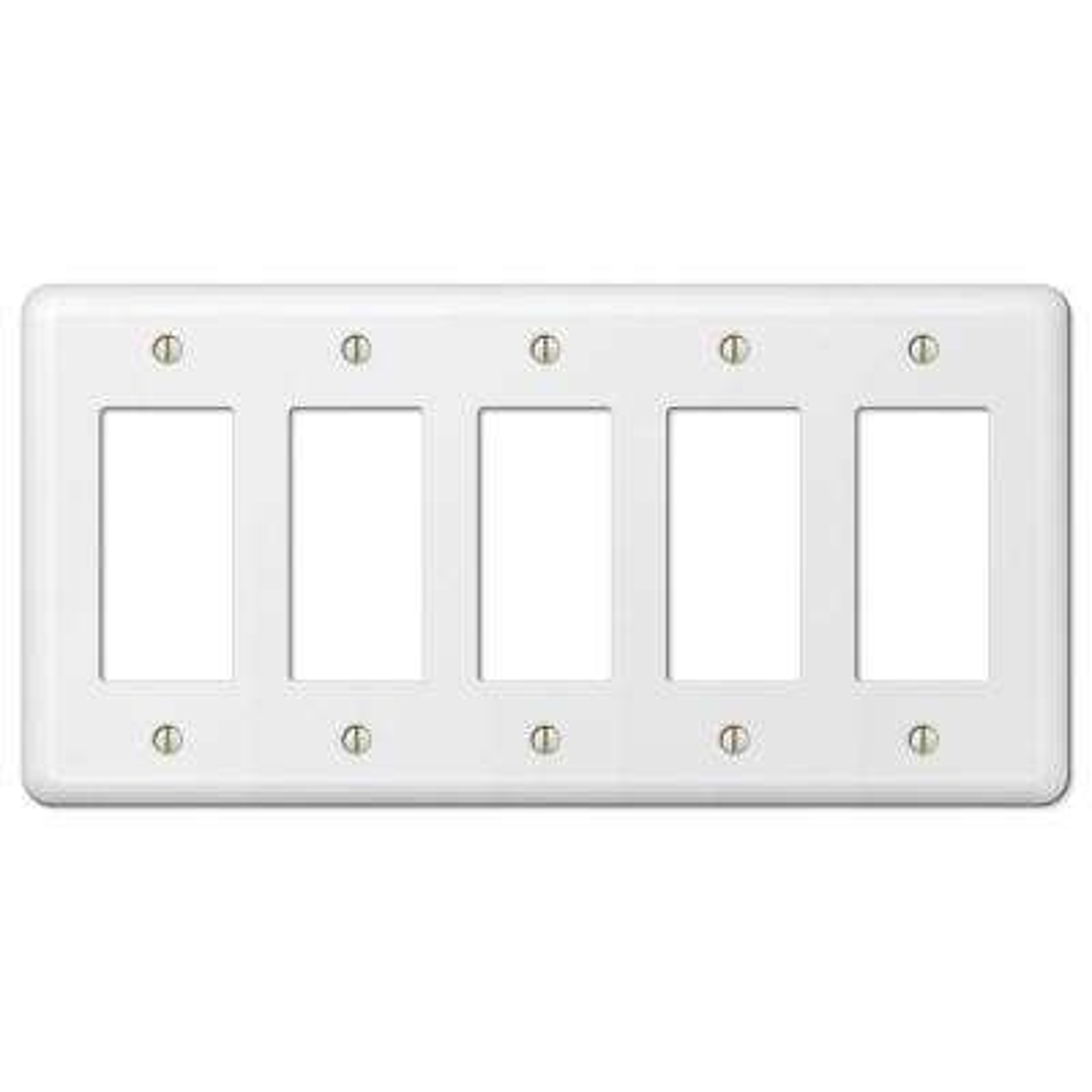 Devon 5 Decorator Wall Plate - White