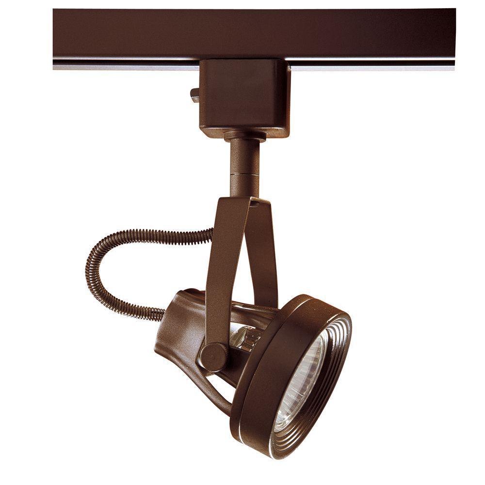 Series 9 Line-Voltage GU-10 Oil-Rubbed Bronze Track Lighting Fixture