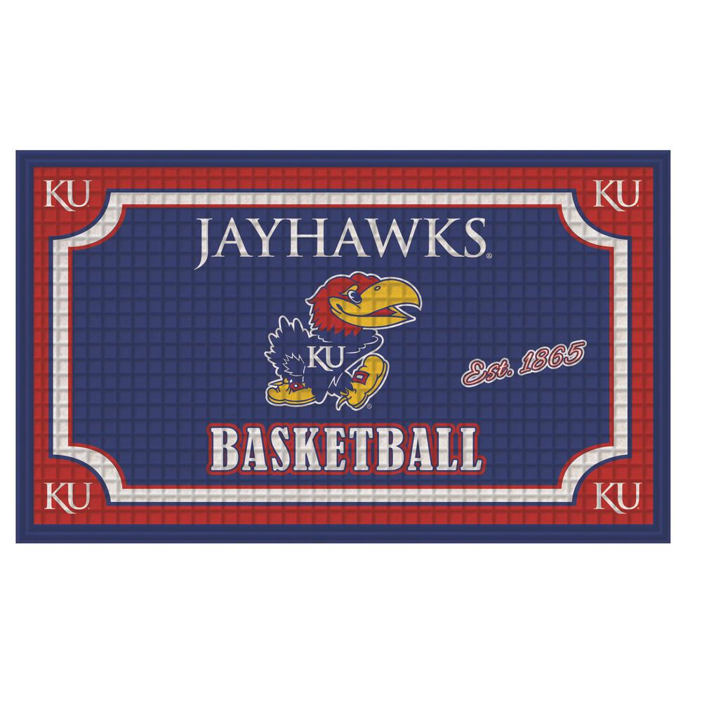 Evergreen University Of Kansas 18 In. X 30 In. Embossed Welcome Mat