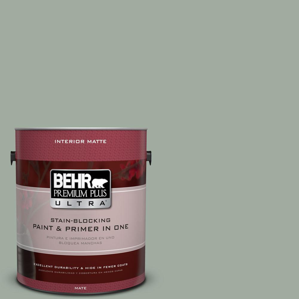 1 gal. #PPU11-15 Green Balsam Flat/Matte Interior Paint