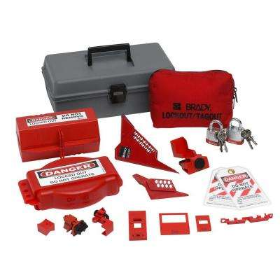 Combination Lockout Toolbox with Steel Padlocks and Tags