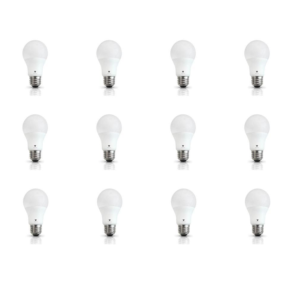 60 Watt Equivalent A19 E26 Base 800 Lumens Led Light Bulb Cool White 12 Pack