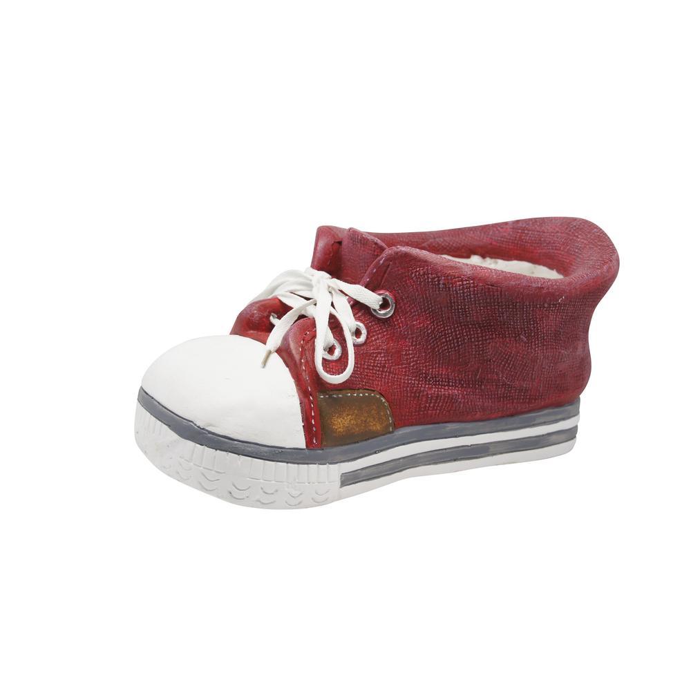 Red Sneaker Fiberglass Planter