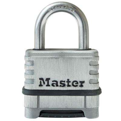 78a105ec8d2a 174SSD 2-1/4 in. Stainless Steel Set Your Own Combination Padlock with  1-1/16 in. Shackle