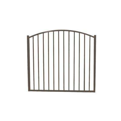 Newtown 4 ft. W x 4 ft. H Bronze Aluminum Arched Fence Gate