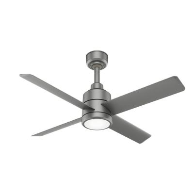 Trak 60 in. Integrated LED Indoor/Outdoor Matte Silver Commercial Ceiling Fan with Light and Wall Control