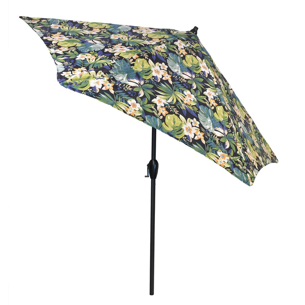 Aluminum Patio Umbrella In Caprice Tropical With Tilt