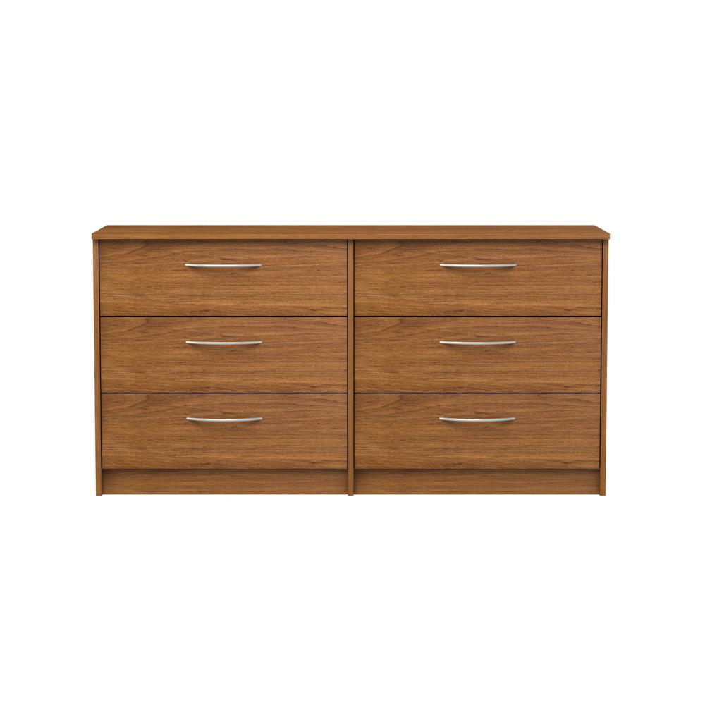 Oriole 6-Drawer Bank Alder Dresser
