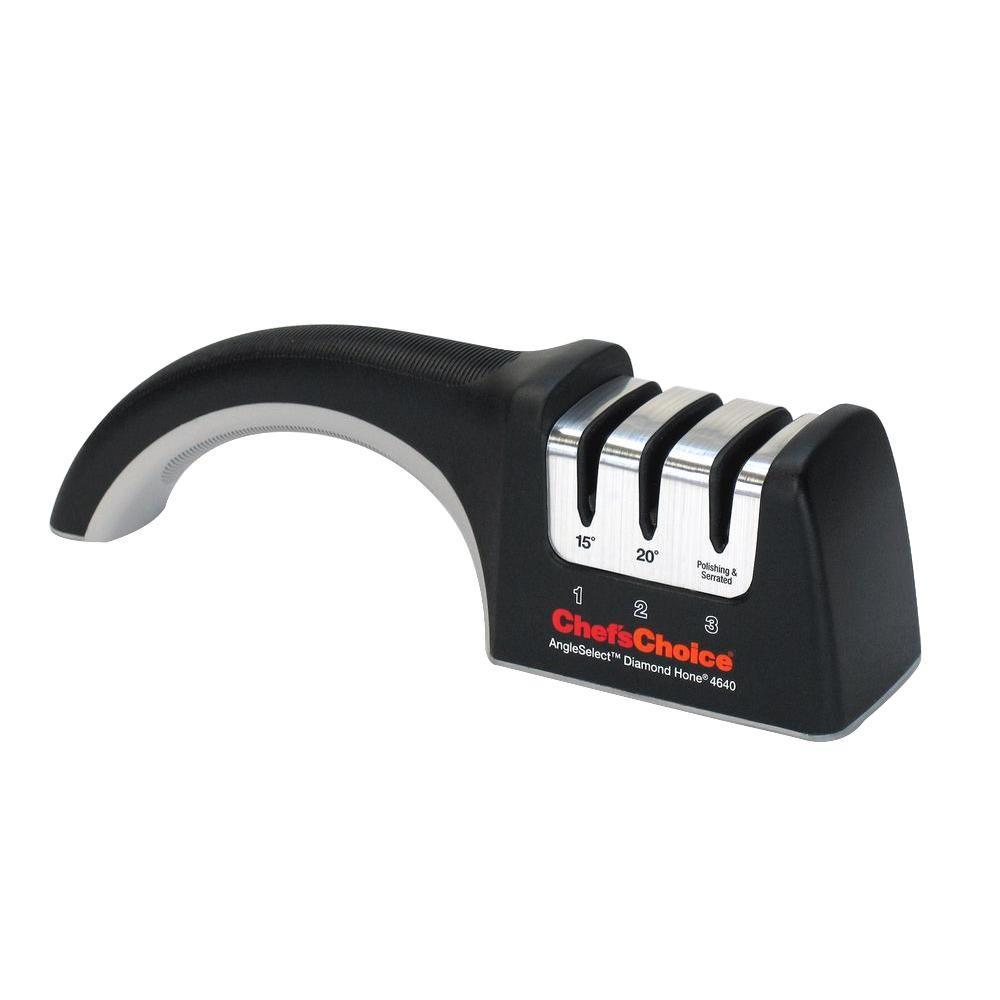 3-Stage Black Angle Select Diamond Manual Knife Sharpener