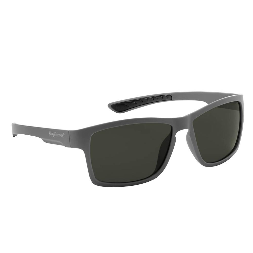 d0ff76a2fa53 Flying Fisherman. Tiki Polarized Sunglasses Matte Gray Frame with Smoke Lens