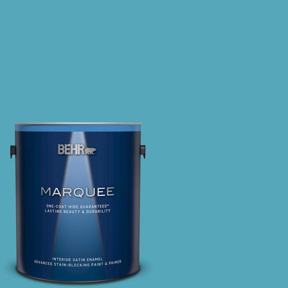 T15 11 Sonic Blue Satin Enamel Interior Paint And Primer In One