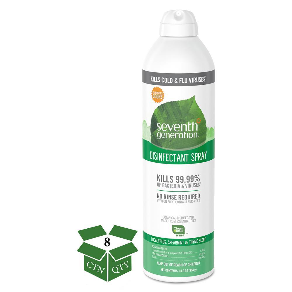 SEVENTH GENERATION 13.9 oz. Eucalyptus/Spearmint/Thyme Disinfectant Aerosol Sprays Spray (8-Count)
