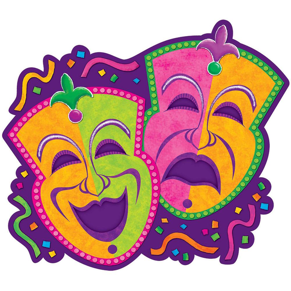 amscan 15 in mardi gras paper comedy and tragedy masks cutouts 9