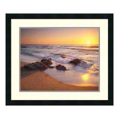 27 in. W x 23 in. H 'Pacific Calm' by Christopher Foster Printed Framed Wall Art