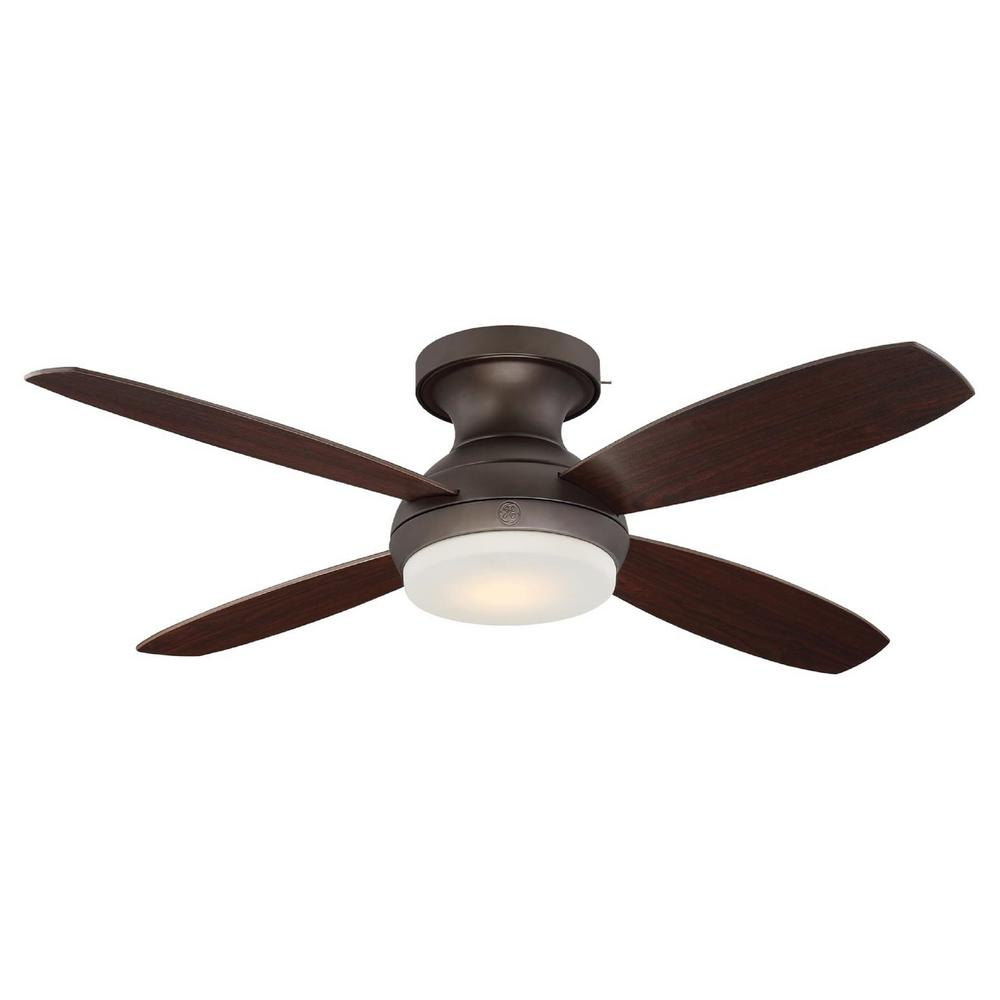 led indoor bronze ceiling fan with skyplug technology