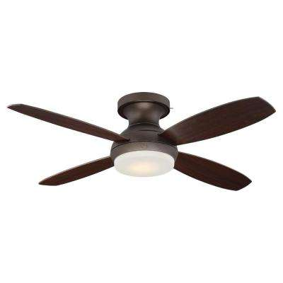 Pierson 52 in. LED Indoor Bronze Ceiling Fan with SkyPlug Technology with Remote Control