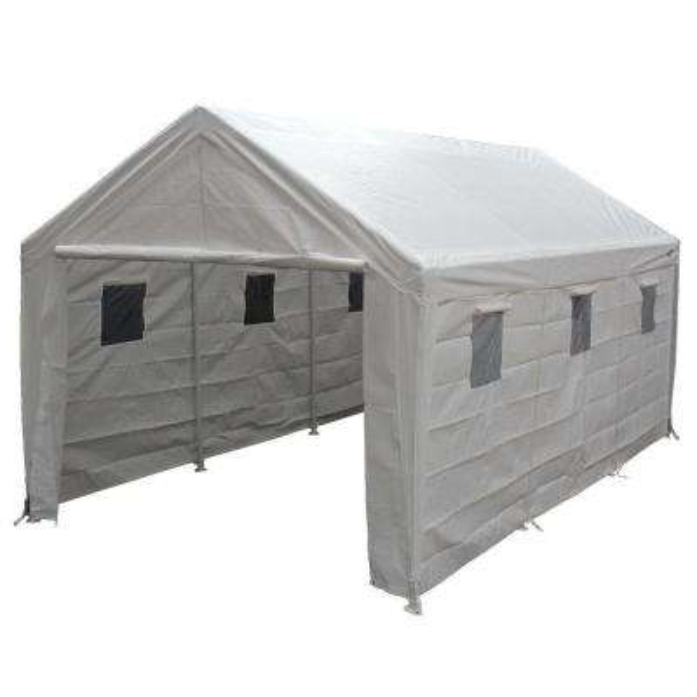 Tremendous Hercules 10 Ft W X 20 Ft D Steel Snow Load Canopy Interior Design Ideas Skatsoteloinfo