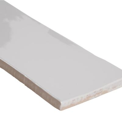 White Crafted 3 in. x 12 in. Glossy Ceramic White Subway Tile (13 sq. ft. / case)