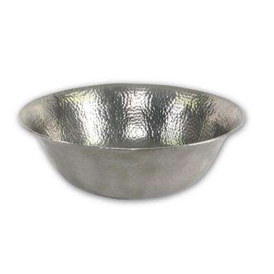 Hammerwerks Series 16 in. Freestanding Copper Vessel Sink in Lustrous Pewter