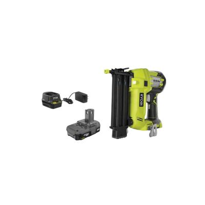 18-Volt ONE+ Lithium-Ion Cordless AirStrike 18-Gauge Brad Nailer with (1) 1.5 Ah Battery and (1) 18-Volt Charger