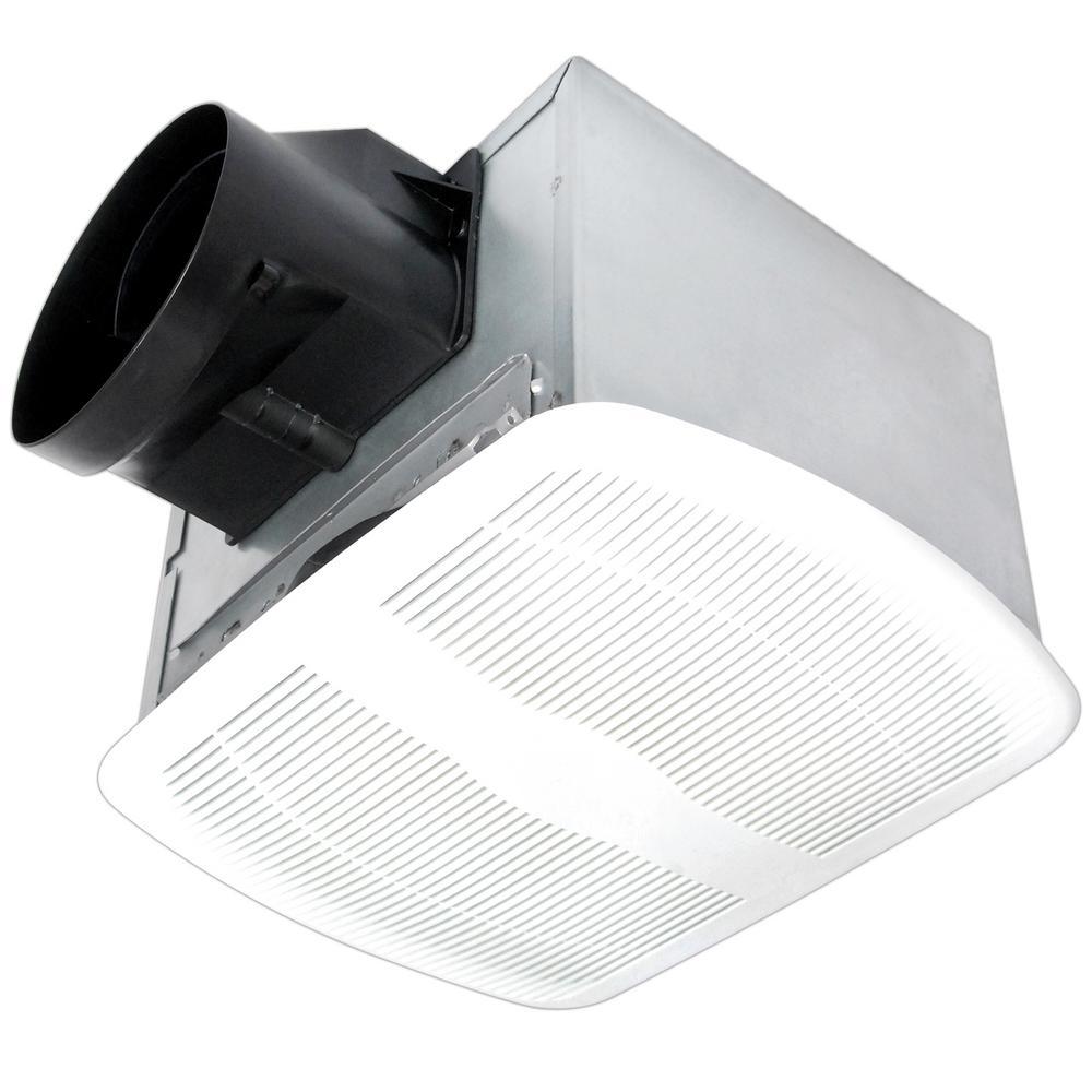High Performance White 80 CFM 0.8 Sone Bathroom Ceiling Bath Fan