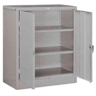 36 in. W x 42 in. H x 18 in. D Counter Height Storage Cabinet Assembled in Gray