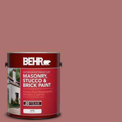 1 gal. #S160-5 Hot Chili Flat Interior/Exterior Masonry, Stucco and Brick Paint