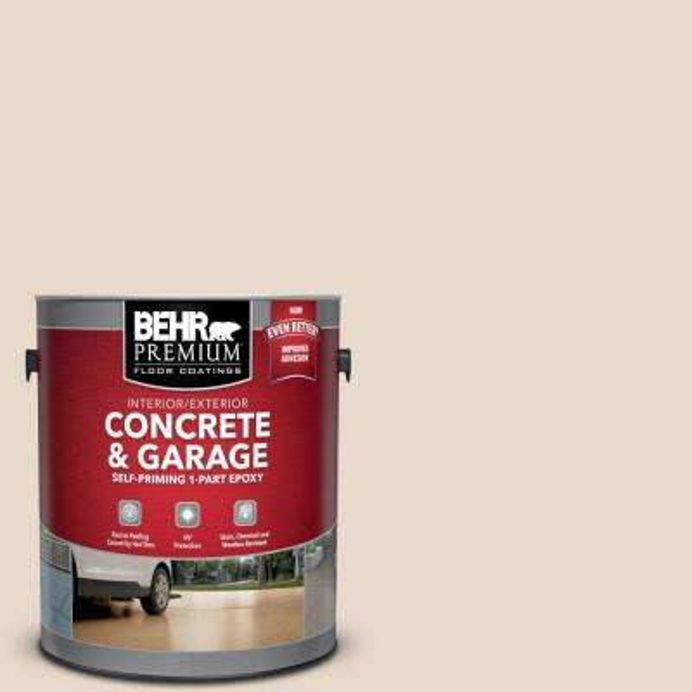 1 gal. #N240-1 Cascade Beige Self-Priming 1-Part Epoxy Satin Interior/Exterior Concrete and Garage Floor Paint