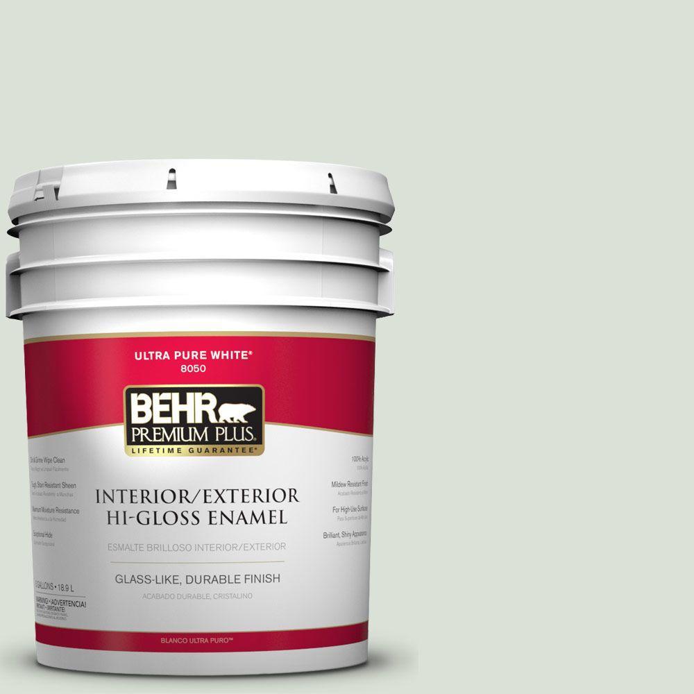 5-gal. #N390-1 Light Mist Hi-Gloss Enamel Interior/Exterior Paint