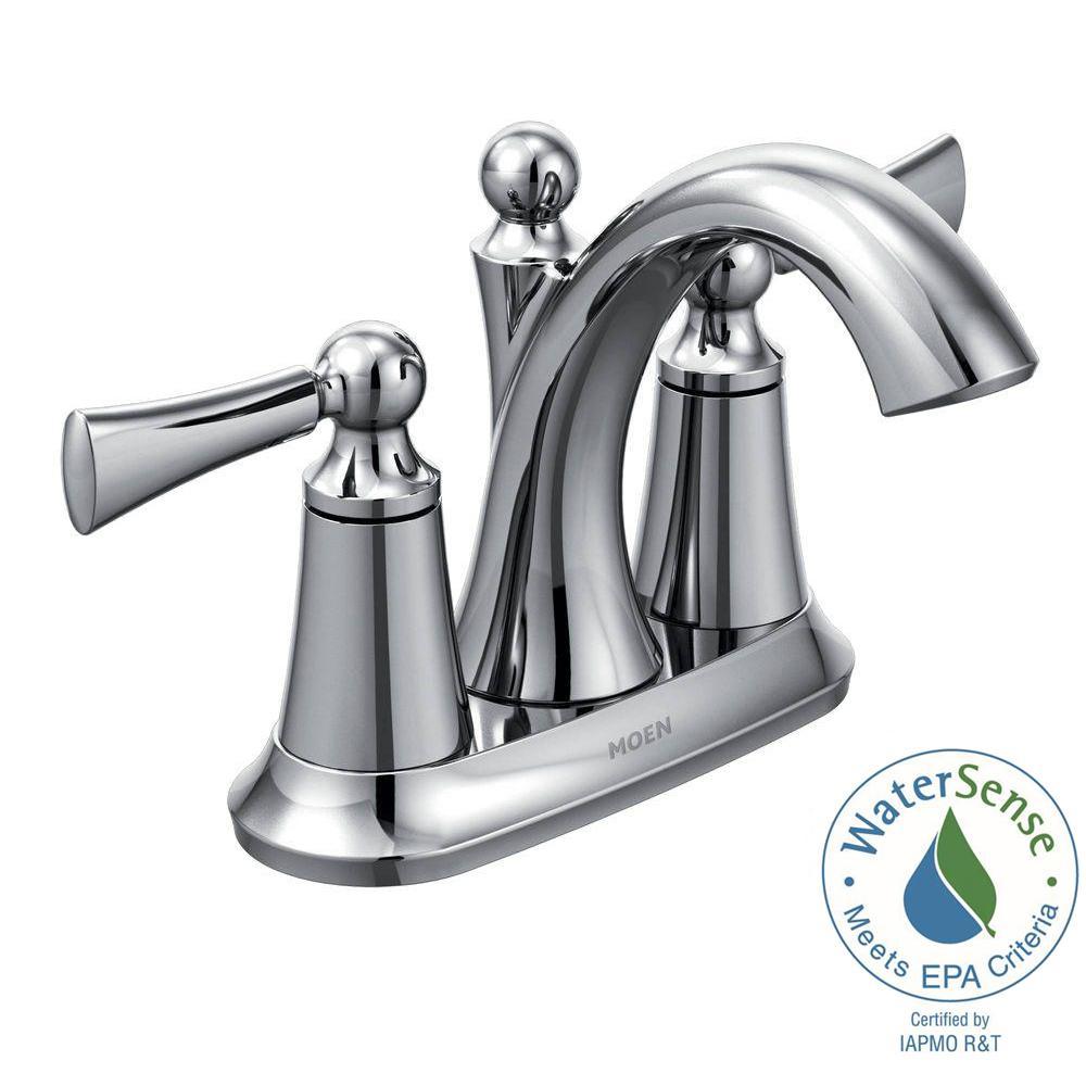 Wynford 4 in. Centerset 2-Handle High-Arc Bathroom Faucet in Chrome