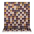 Square Maple 12 in. W x 12 in. H Peel and Stick Decorative Mosaic Wall Tile Backsplash (10-Tiles)