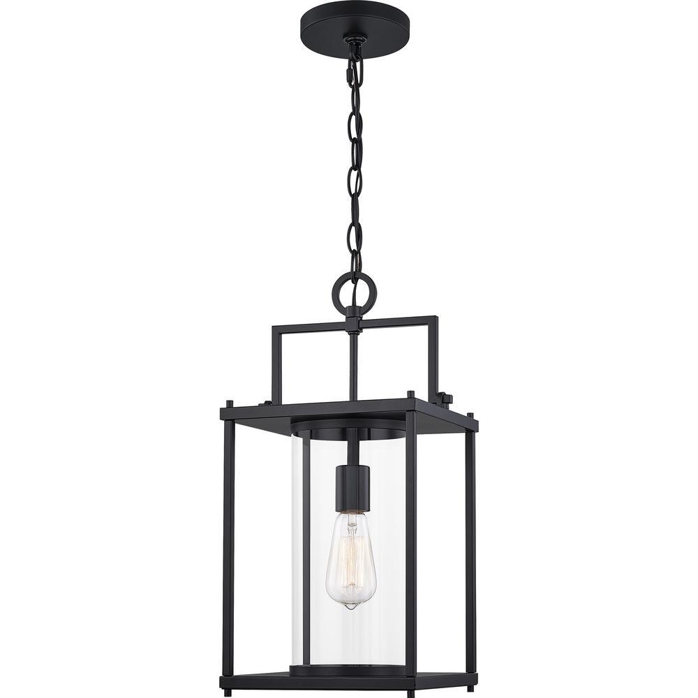 Garrett 1-Light Black Outdoor Pendant Light