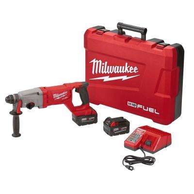 M18 FUEL 18-Volt Lithium-Ion Brushless Cordless 1 in. SDS-Plus D-Handle Rotary Hammer Kit W/(2) 5.0Ah Batteries & Case