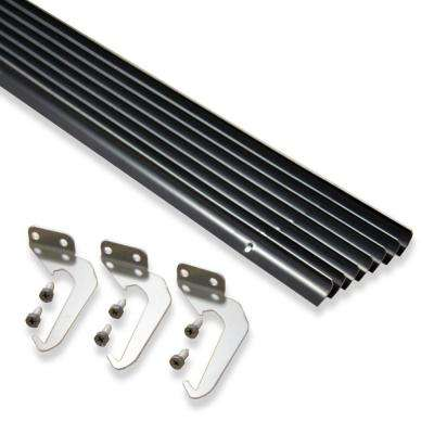 5 ft. Brown Aluminum Gutter with Brackets & Screws - Value Pack of 50 ft.