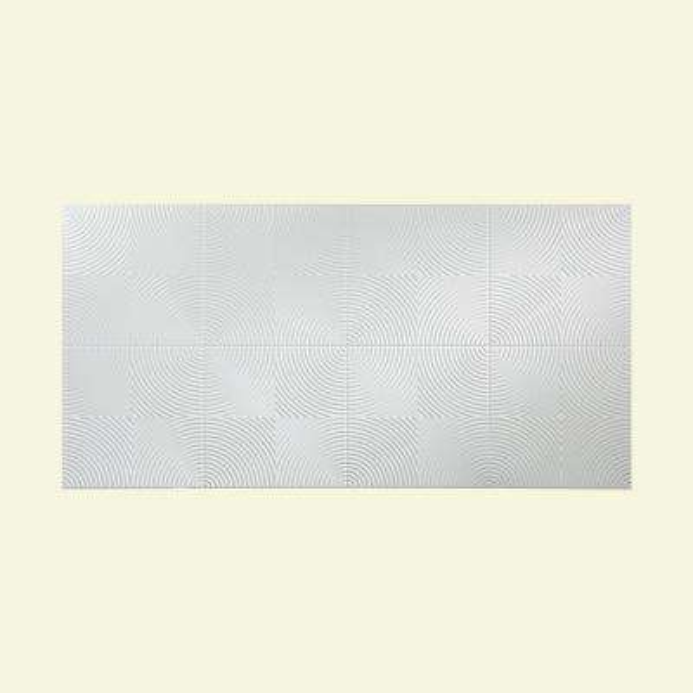 Echo 96 in. x 48 in. Matte White Decorative Wall Panel
