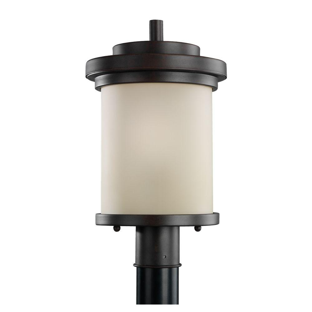 Sea Gull Lighting Winnetka 1-Light Misted Bronze Outdoor Post Top