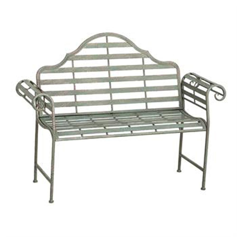 Chippendale Style Metal Outdoor Bench