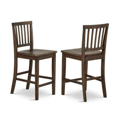 Branson 39 in. Dark Oak Counter Chair (Set of 2)