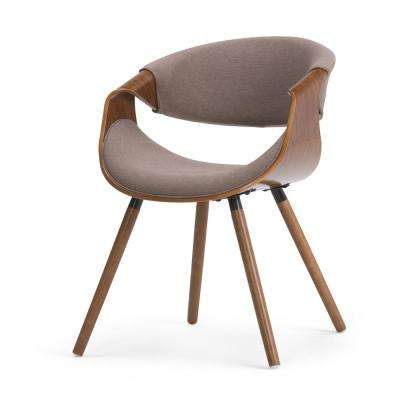 Wayland Bentwood Dining Chair in Mocha Woven Fabric