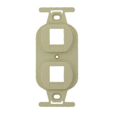 QuickPort Standard Size Type 106 2-Port Insert in Ivory