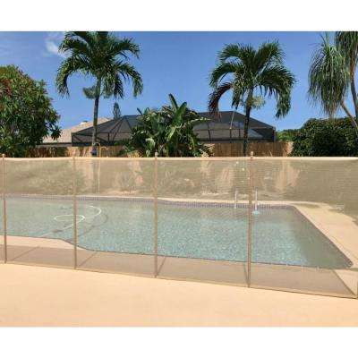 4 ft. x 12 ft. Beige In-Ground Pool Safety Fence Kit