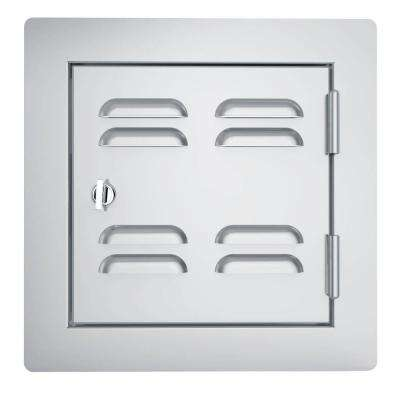 Classic Series 12 in. x 12 in. 304 Stainless Steel Right Swing Vented Door