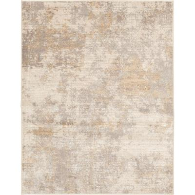 Medina Beige 8 ft. x 10 ft. Abstract Area Rug