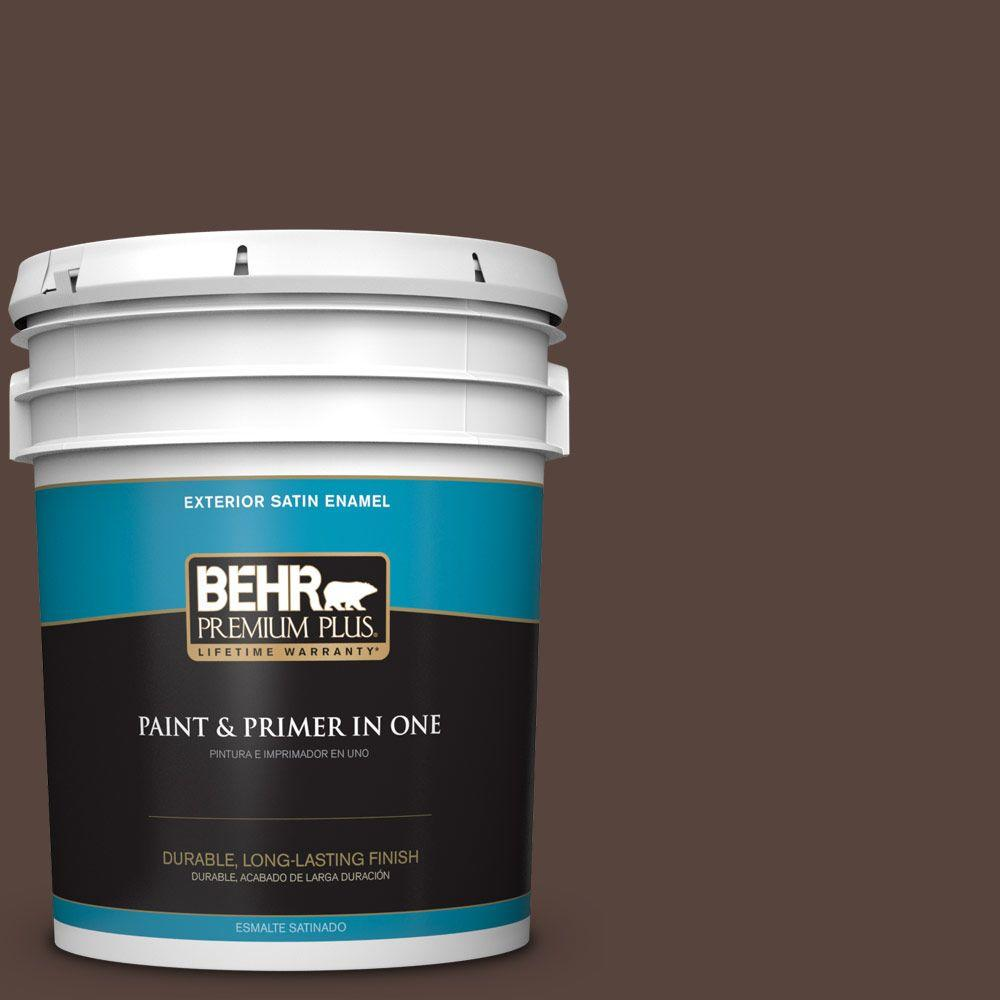5-gal. #BXC-78 Cordovan Leather Satin Enamel Exterior Paint