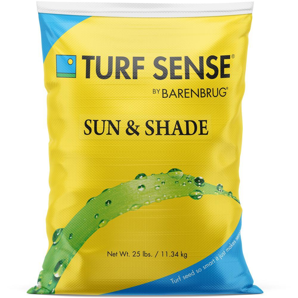 25 lbs. 8,300 sq. ft. Turf Sense Sun and Shade Mix Grass Seed