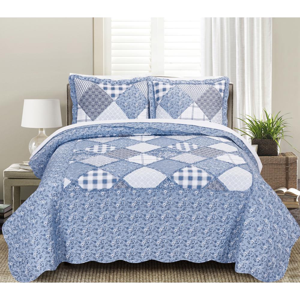 plaid patchwork twin quilt