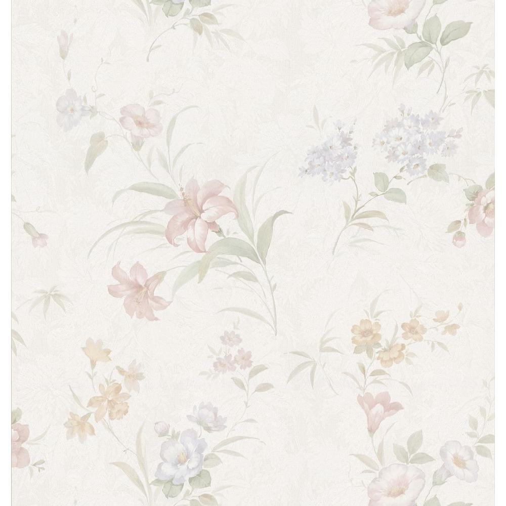 Brewster Lily Floral Wallpaper