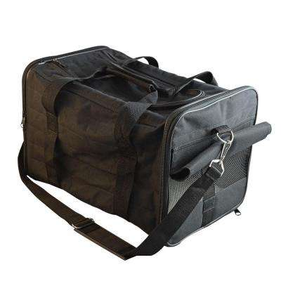 Airline Approved Soft-Sided/Padded Black Pet Carrier with Shoulder Strap