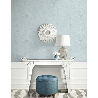 Summer Magnolia Blue Oasis Wallpaper