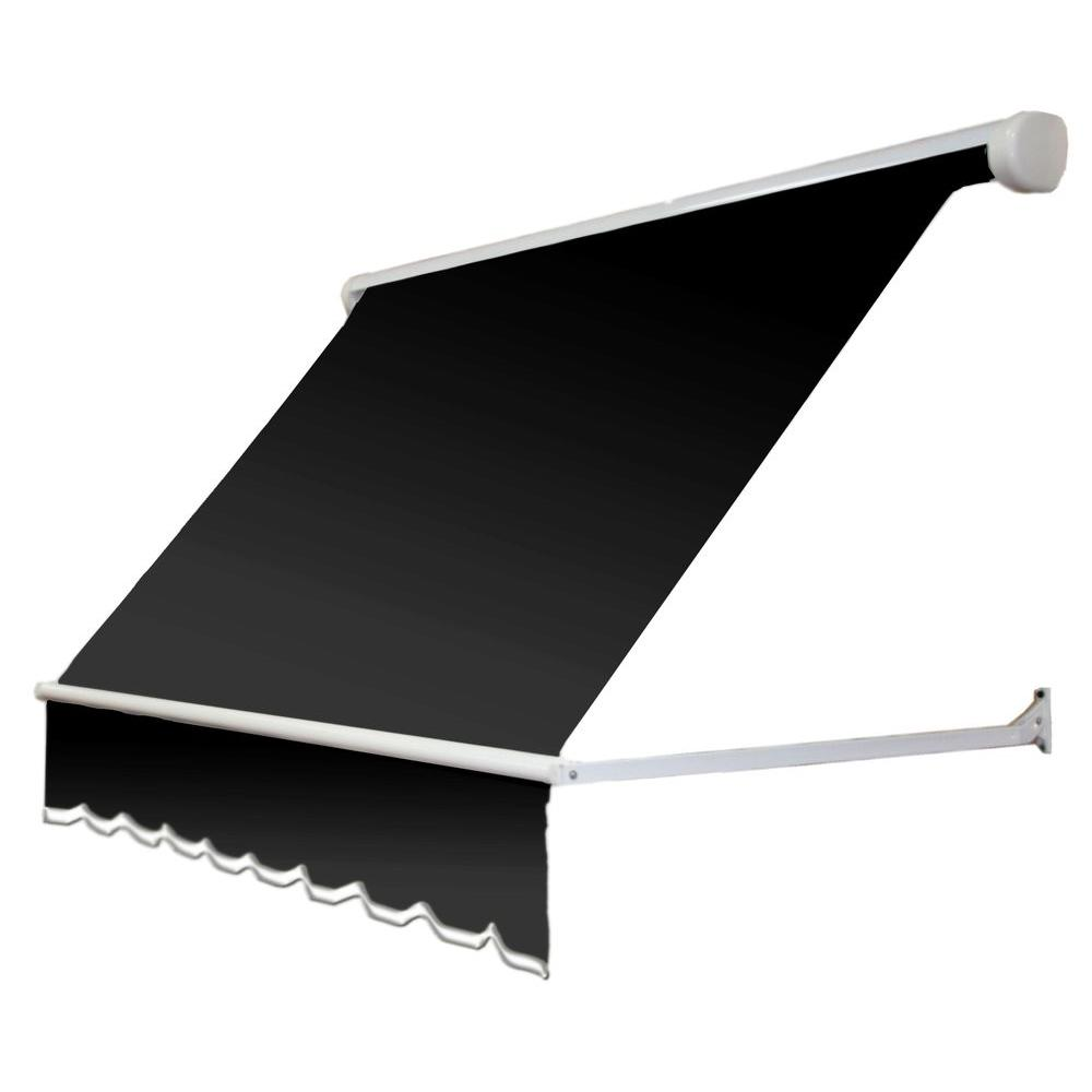 4 ft. Mesa Window Retractable Awning (24 in. Projection) in Black